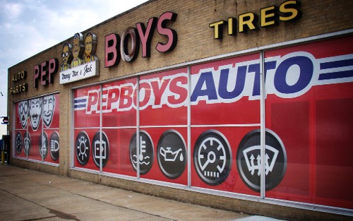 Pep Boys Window Graphics
